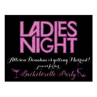 Ladies Night invitation design Postcard