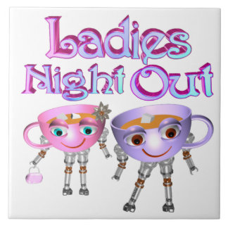 Ladies Night Out by Valxart.com Ceramic Tiles
