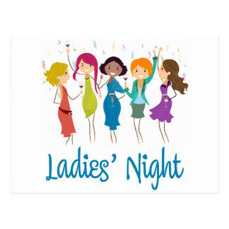 Ladies' Night Postcard