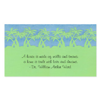 Ladies palm Tree Profile Cards Pack Of Standard Business Cards