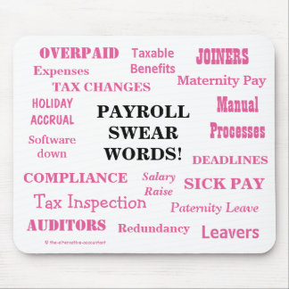 Ladies Payroll Swear Words! Funny Payroll Terms Mouse Pad