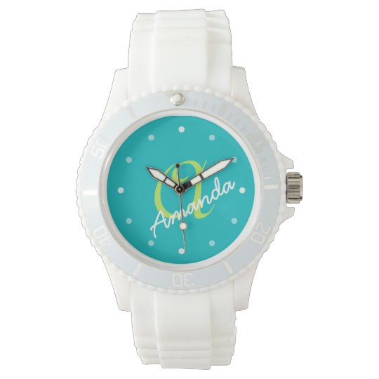 Ladies Personalized Monogram Sporty Watch