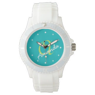 Ladies Personalized Monogram Sporty Wristwatch