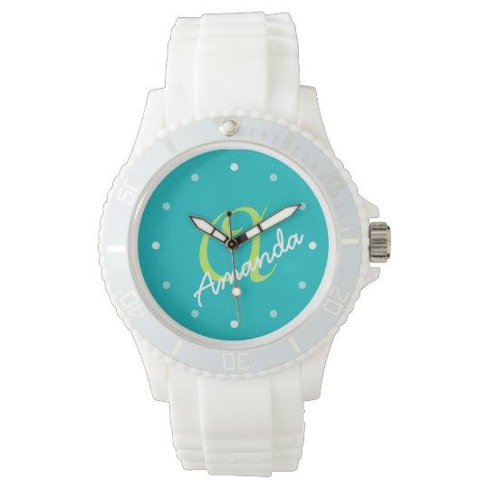 Ladies Personalized Monogram Sporty Wristwatch