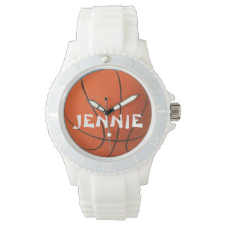 Ladies Personalized Sporty Basketball Watch