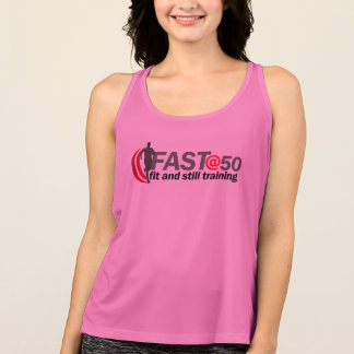 Ladies Pink FAST@50 Running Vest Tank Top
