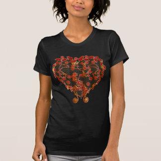 ladies pretty heart tshirt, rose heart tshirt