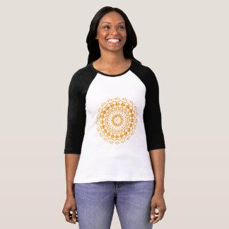 Ladies Raglan shirt Mandala 3/4 arm