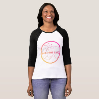 Ladies Raglan Soaring Bird Emblem - pink/yellow T-Shirt