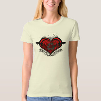 Ladies Recycled Heart T-Shirt