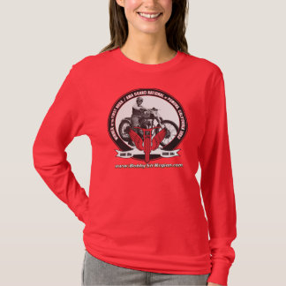 Ladies' Red Long Sleeved Photo T T-Shirt