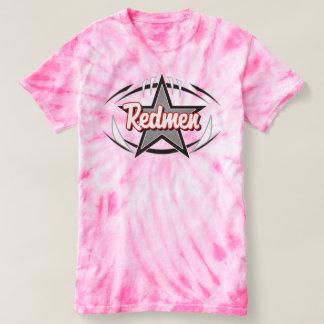 Ladies Redmen Pink Tie Die T-shirt