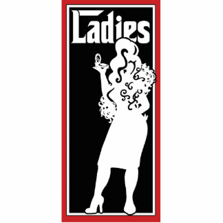 Ladies Restroom/Bathroom sign Photo Sculpture Ornament