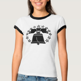 Ladies Ringer Liberty Bell T-shirt