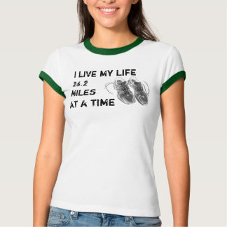 Ladies' Ringer - Life 26.2 miles at a time T-Shirt