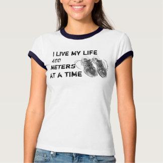 Ladies' Ringer - Life 400 meters at a time Shirt