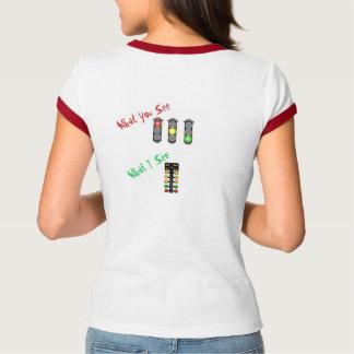 Ladies' Ringer Shirt - Drag Racing