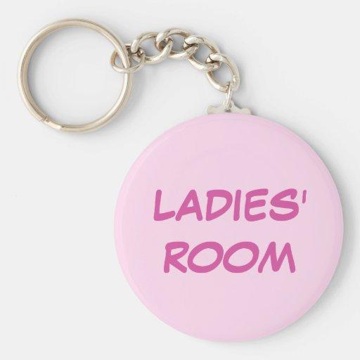 Ladies room pink keychain