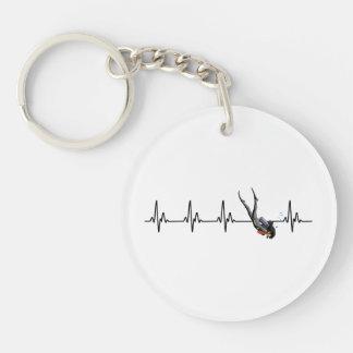 Ladies SCUBA Diving Heartbeat Keychain