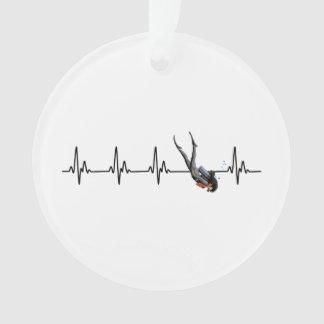 Ladies SCUBA Diving Heartbeat Ornament
