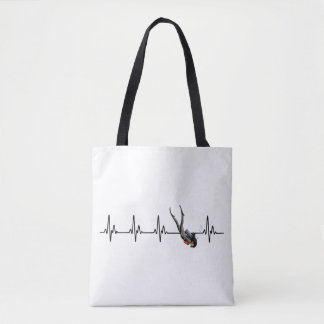 Ladies SCUBA Diving Heartbeat Tote Bag
