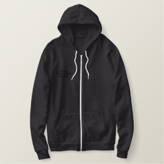 Ladies sherpa-lined zip HARLEM RENAISSANCE RECORDS Embroidered Hoodie