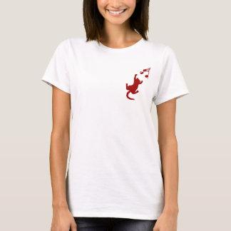 Ladies Shirt Crimson Lettering - Emblem