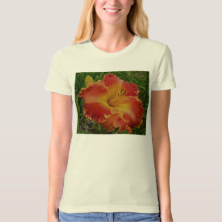 Ladies Shirt with a Red Daylily