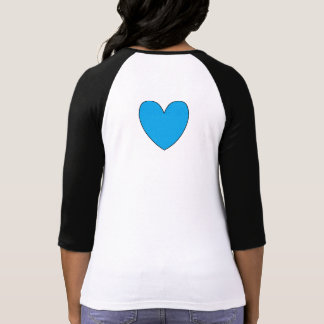 Ladies Shirt with Teal Hearts