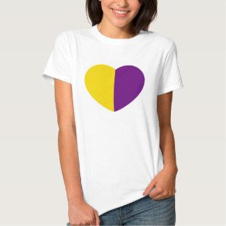 Ladies simple heart T-shirt