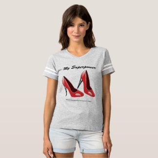 Ladies T-Shirt High Heel Superpower