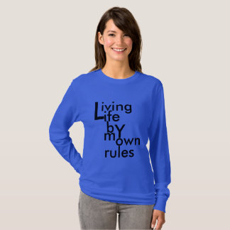 Ladies T-shirt with long sleeves, sweater, blauw