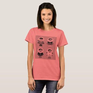 Ladies t-shirt with Snow girls