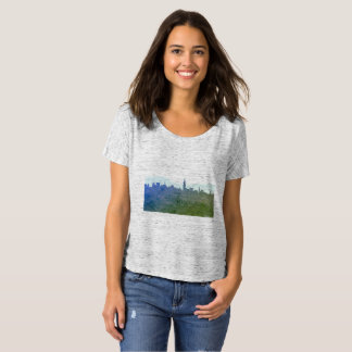 Ladies t-shirt with Town silhouette