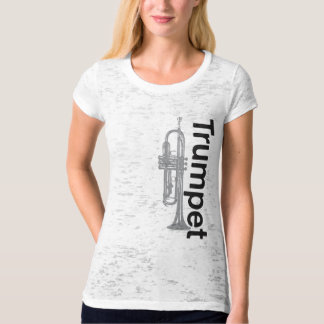 Ladies Trumpet Burnout T-Shirt (Fitted)