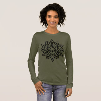 Ladies tshirt brown with Mandala