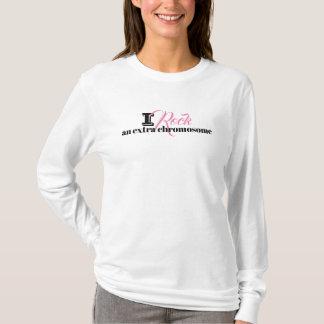 "Ladies Tshirt  ""I rock an extra chromosome"""