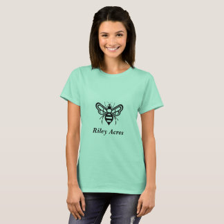 Ladies TShirt w/ the original Riley Acres Bee Logo
