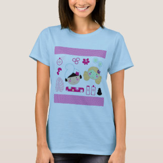 Ladies tshirt with Cosmetic girls