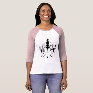 Ladies vintage tshirt with Chandelier