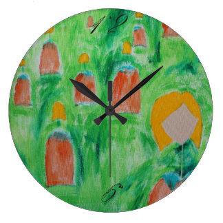 Ladies Walking Circle Clock 2