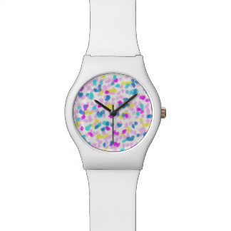 Ladies Watch with Cotton Candy Dots Design