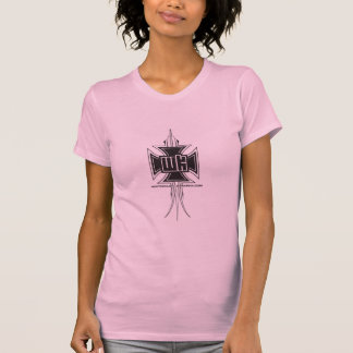 Ladies White Knuckle Graph-X Pinstripe / Cross T-Shirt
