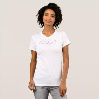 Ladies' White T-Shirt Zoe Life T-Shirt Template