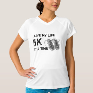Ladies' Wicking No-Sleeve - Life 5K at a time T-Shirt