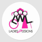 Ladies With Lesions Classic Round Sticker