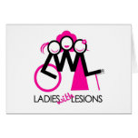 Ladies With Lesions Greeting Card