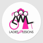 Ladies With Lesions Round Sticker