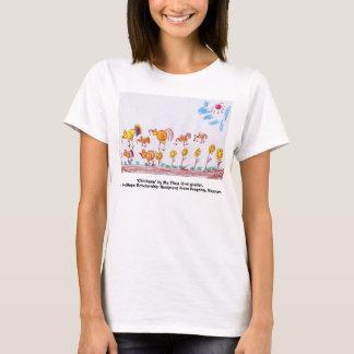 """LADIES YELLOW BABY T-SHIRT, """"Chickens""""  T-Shirt"""