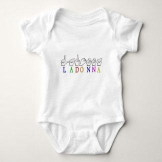 LADONNA ASL FINGERSPELLED NAME SIGN DEAF BABY BODYSUIT
